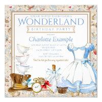 Alice in wonderland birthday invitations announcements zazzle alice in wonderland birthday party invitation filmwisefo