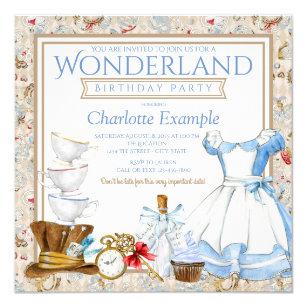 Alice in wonderland birthday invitations zazzle alice in wonderland birthday party invitation filmwisefo