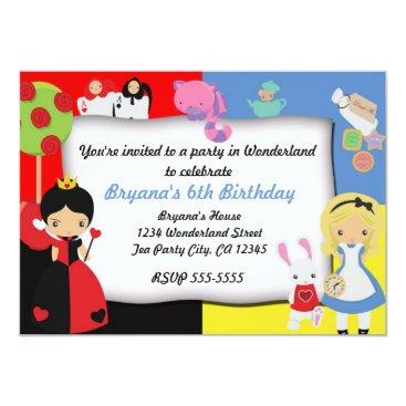 printabledigidesigns Alice in Wonderland Birthday Party Invitation