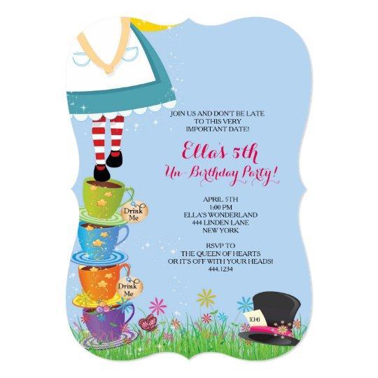 Alice in Wonderland Birthday Party Invitations Zazzlecom