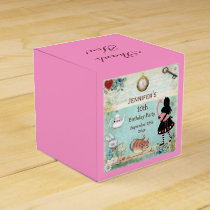 Alice in Wonderland Birthday Party Thank You Favor Box
