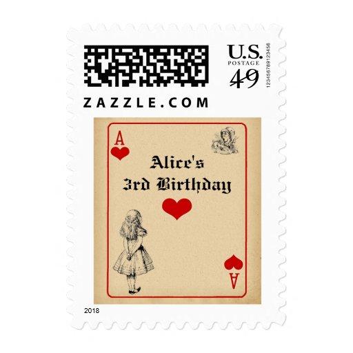Alice in Wonderland Birthday Postage