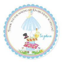 Alice in Wonderland Birthday Stickers