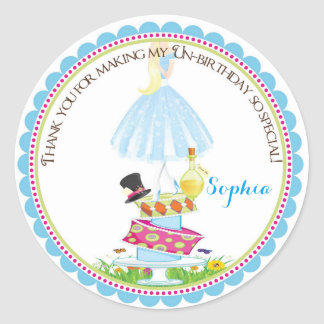 Alice in Wonderland Birthday Stickers