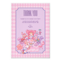 Alice in Wonderland | Birthday - Thank You Card