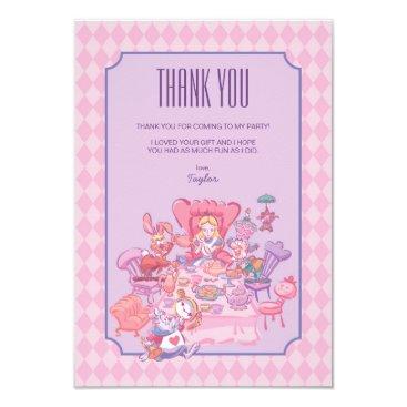 Disney Themed Alice in Wonderland   Birthday - Thank You Card