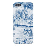 Alice In Wonderland Blue & White Toils Cover For iPhone 5