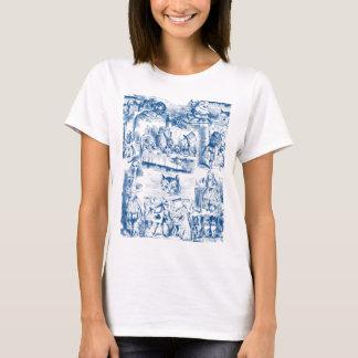 Alice In Wonderland Blue & White Toils T-Shirt