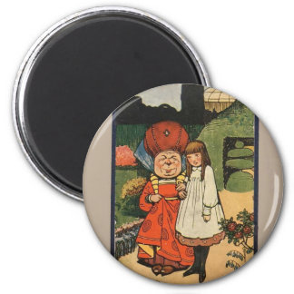 Alice in Wonderland Book Cover 2 Inch Round Magnet