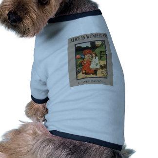 Alice in Wonderland Book Cover Pet T Shirt
