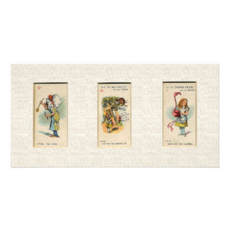 Alice in Wonderland Bookmark Custom Photo Card