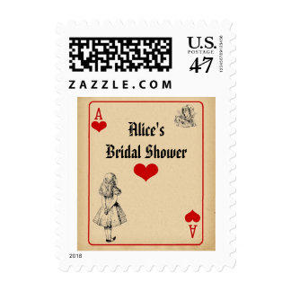 Alice in Wonderland Bridal Shower Postage