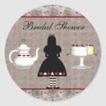 Alice in Wonderland Bridal Shower Tea Party Stickers