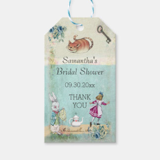 Alice in Wonderland Bridal Shower Thank You Gift Tags