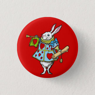 Alice in Wonderland ~ Button Rabbit Red Hearts