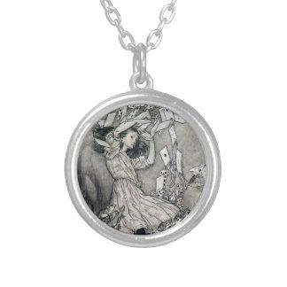 Alice in Wonderland by Arthur Rackham Illustration Silver Plated Necklace