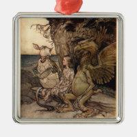 Alice in Wonderland by Arthur Rackham Metal Ornament