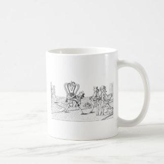 Alice in Wonderland by Lewis Carroll Black White Coffee Mug