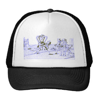Alice in Wonderland by Lewis Carroll Blue Ink Tint Mesh Hats