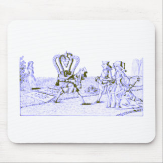 Alice in Wonderland by Lewis Carroll Blue Ink Tint Mouse Pad
