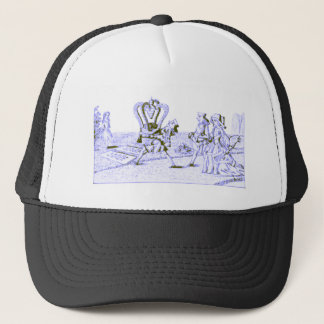 Alice in Wonderland by Lewis Carroll Blue Ink Tint Trucker Hat