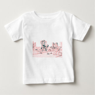 Alice in Wonderland by Lewis Carroll Pink Baby T-Shirt
