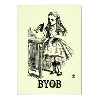 Alice in Wonderland BYOB Card