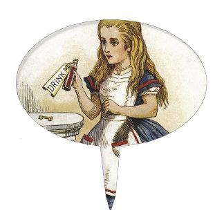 Alice in wonderland cake pick. cake topper