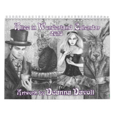 Alice In Wonderland Calendar 2016 Deanna Davoli at Zazzle