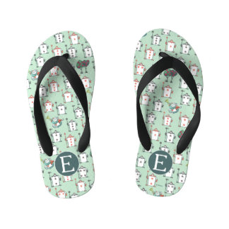 Alice In Wonderland | Card Soldiers - Monogram Kid's Flip Flops