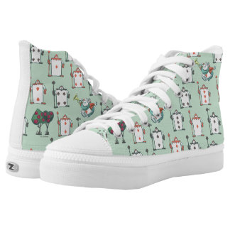 Alice In Wonderland | Card Soldiers Pattern High-Top Sneakers