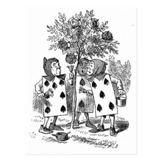 Alice in Wonderland Card Soldiers Postcard