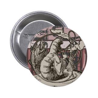Alice In Wonderland Caterpillar Grunge (Pink) Button