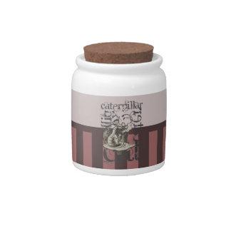 Alice In Wonderland Caterpillar Grunge (Pink) Candy Jar