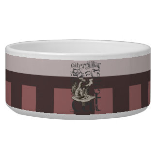 Alice In Wonderland Caterpillar Grunge (Pink) Pet Bowl