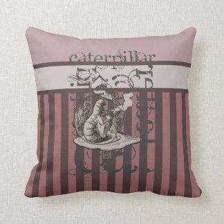 Alice In Wonderland Caterpillar Grunge (Pink) Throw Pillow
