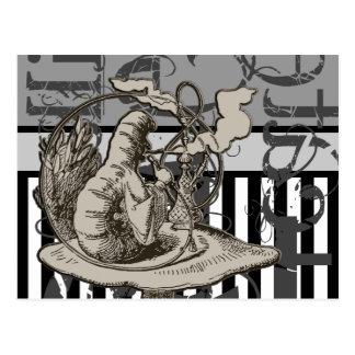 Alice In Wonderland Caterpillar Grunge Post Card