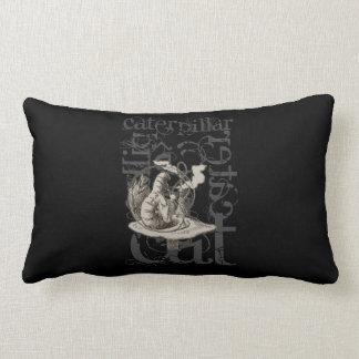 Alice In Wonderland Caterpillar Grunge (Single) Throw Pillow