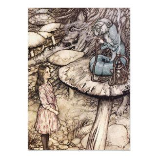 Alice in Wonderland Caterpillar Invitations