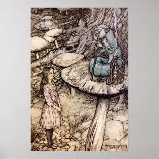 Alice in Wonderland Caterpillar Poster