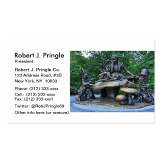 Alice in Wonderland - Central Park NYC Double-Sided Standard Business Cards (Pack Of 100)