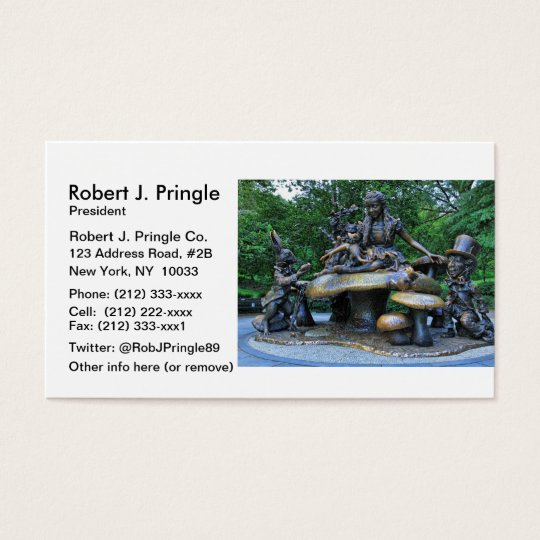 Alice in Wonderland - Central Park NYC Business Card