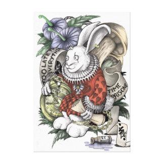 Alice in Wonderland: Chained Rabbit Canvas Print