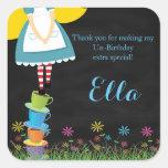 Alice in Wonderland Chalkboard Favor Stickers