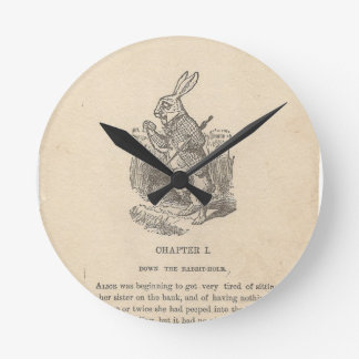 Alice In Wonderland, Chapter One, Down the Rabbit Round Wall Clock