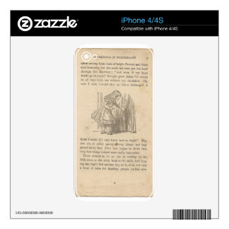Alice In Wonderland, Chapter One, Down the Rabbit Decal For iPhone 4S