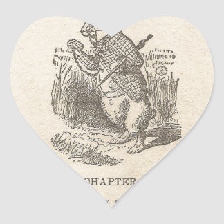 Alice In Wonderland, Chapter One, Down the Rabbit Heart Stickers