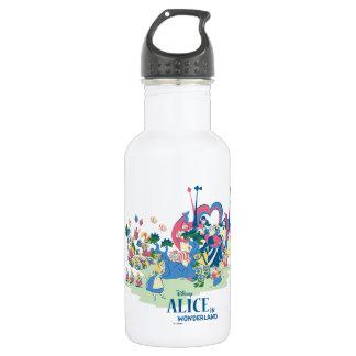 Alice in Wonderland Characters Stainless Steel Water Bottle