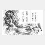 Alice in Wonderland / Cheshire Cat Bookplate Rectangular Sticker