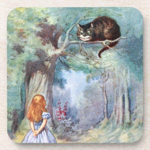 Alice in Wonderland Cheshire Cat Cork Coaster Set